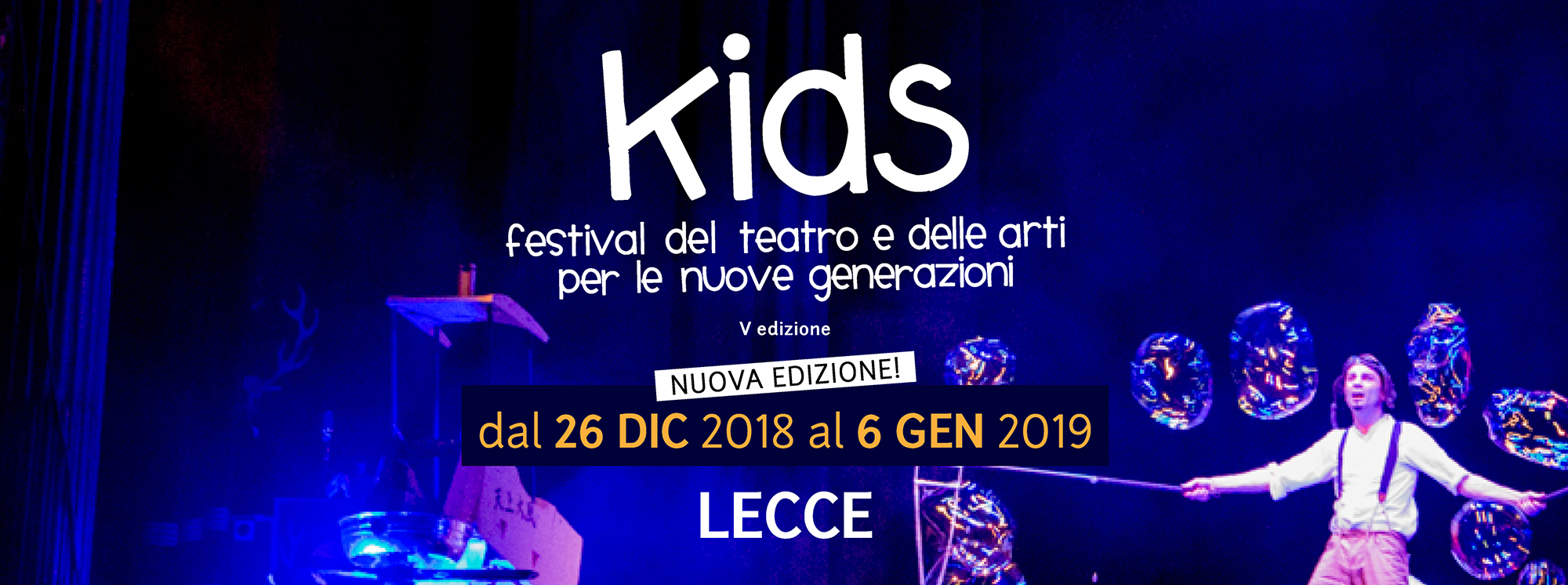 Lecce: Kids. Festival del teatro e delle arti per le nuove generazioni